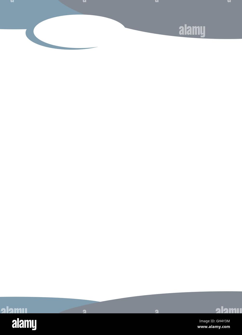 Swirl Letterhead Template Logo Blue Grey - Stock Image