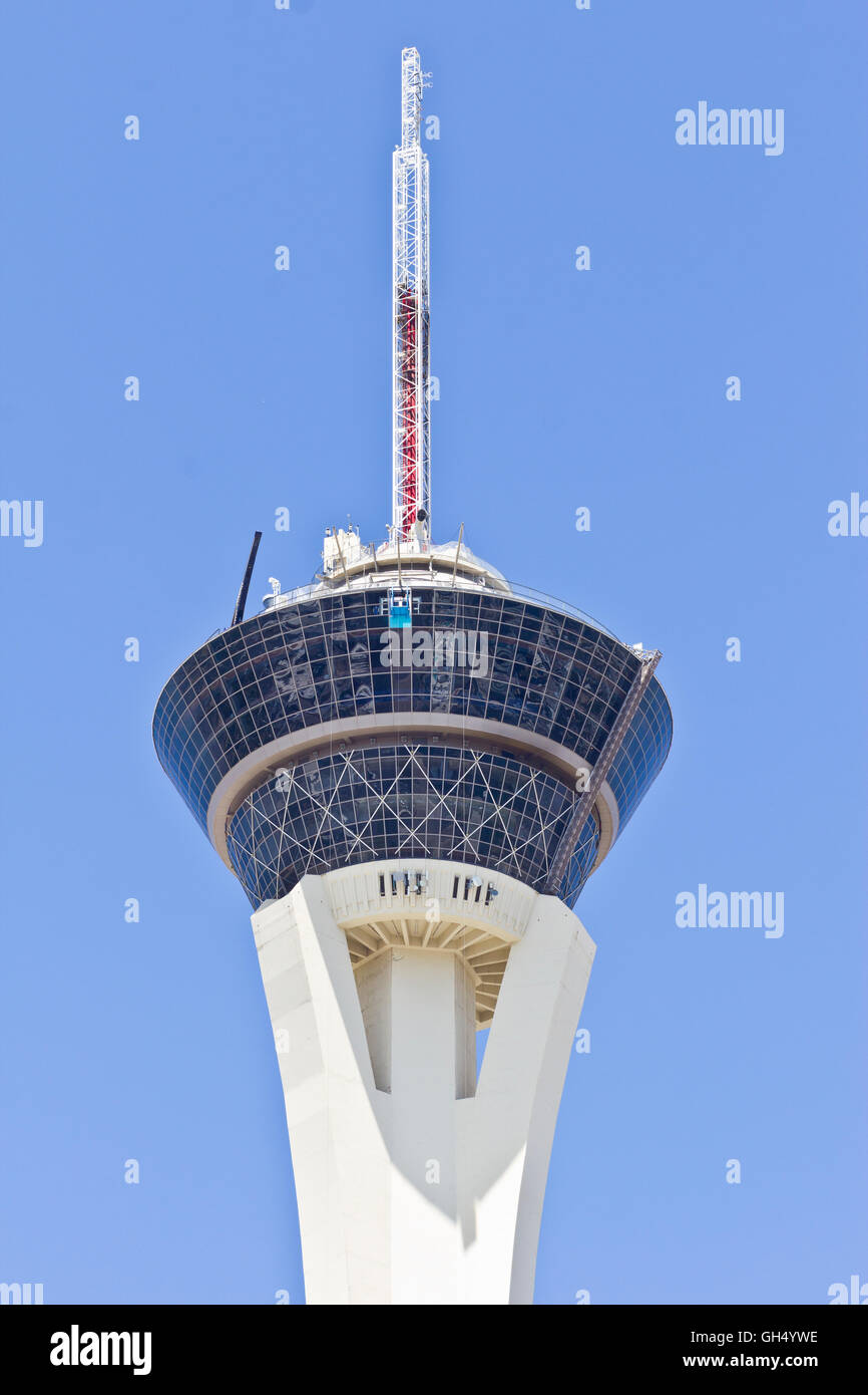Las Vegas - Circa July 2016: Stratosphere Tower, the tallest freestanding observation tower in the US I - Stock Image