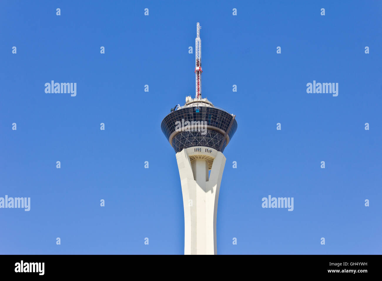 Las Vegas - Circa July 2016: Stratosphere Tower, the tallest freestanding observation tower in the US II - Stock Image