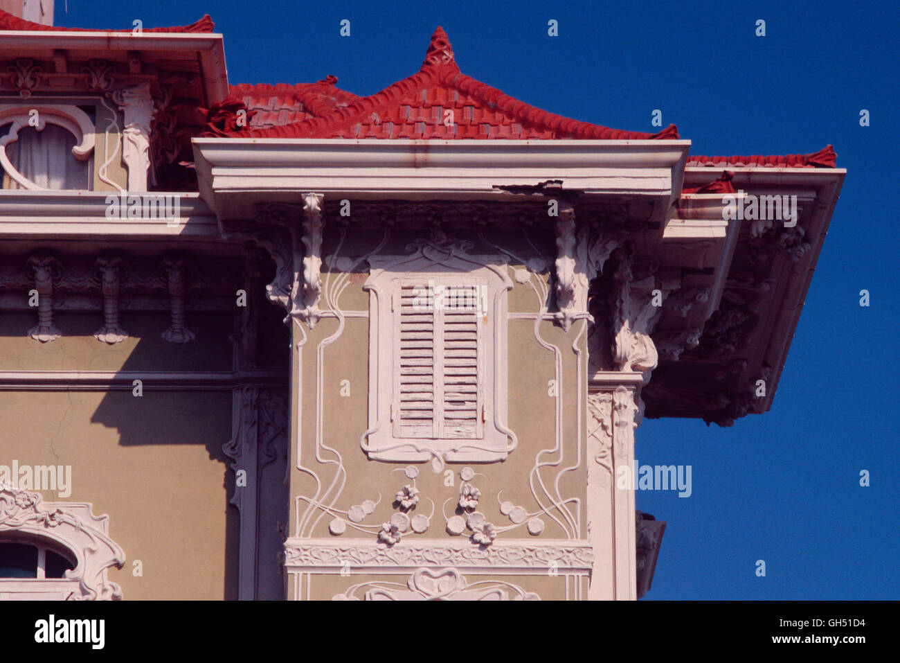 Italy, Marche, Pesaro, Piazzale della Liberta, Villino Ruggeri - Stock Image