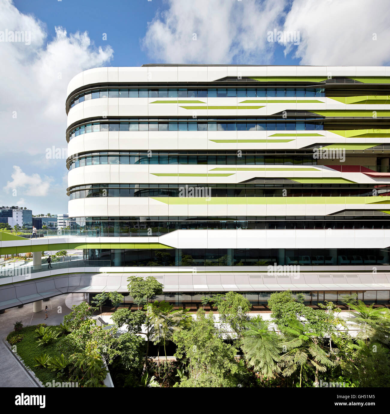 Front Elevation Of Multistoried Building : Front elevation of multi storey facade with landscaped