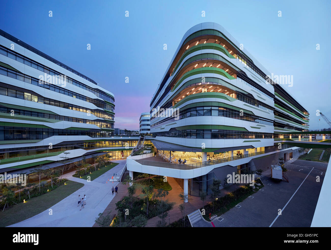 View Across Campus With Lit Interiors Singapore University Of Stock - Lit design 2015