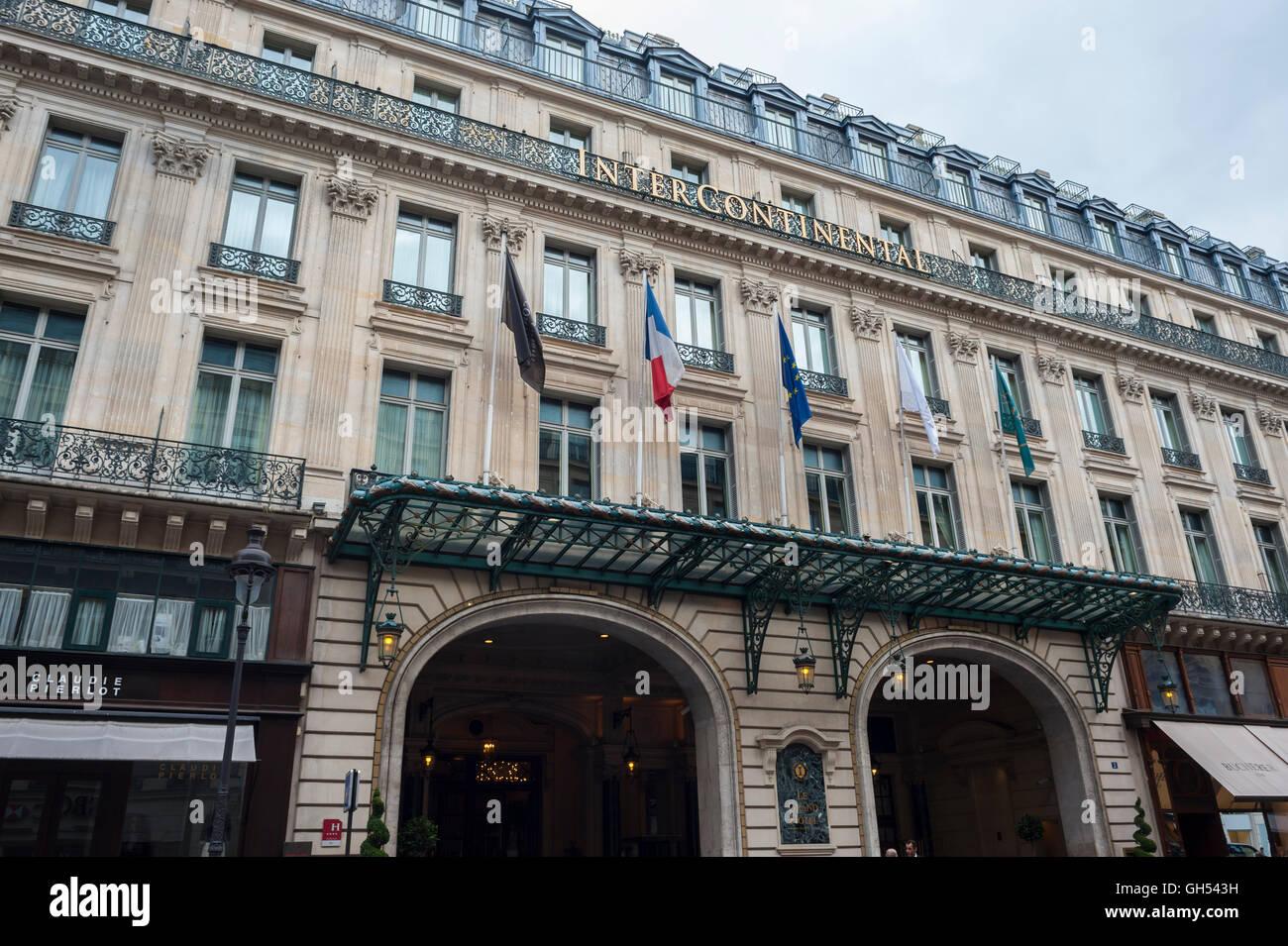 Paris France Exterior Facade Front 5 Star Hotel Entrance Luxury
