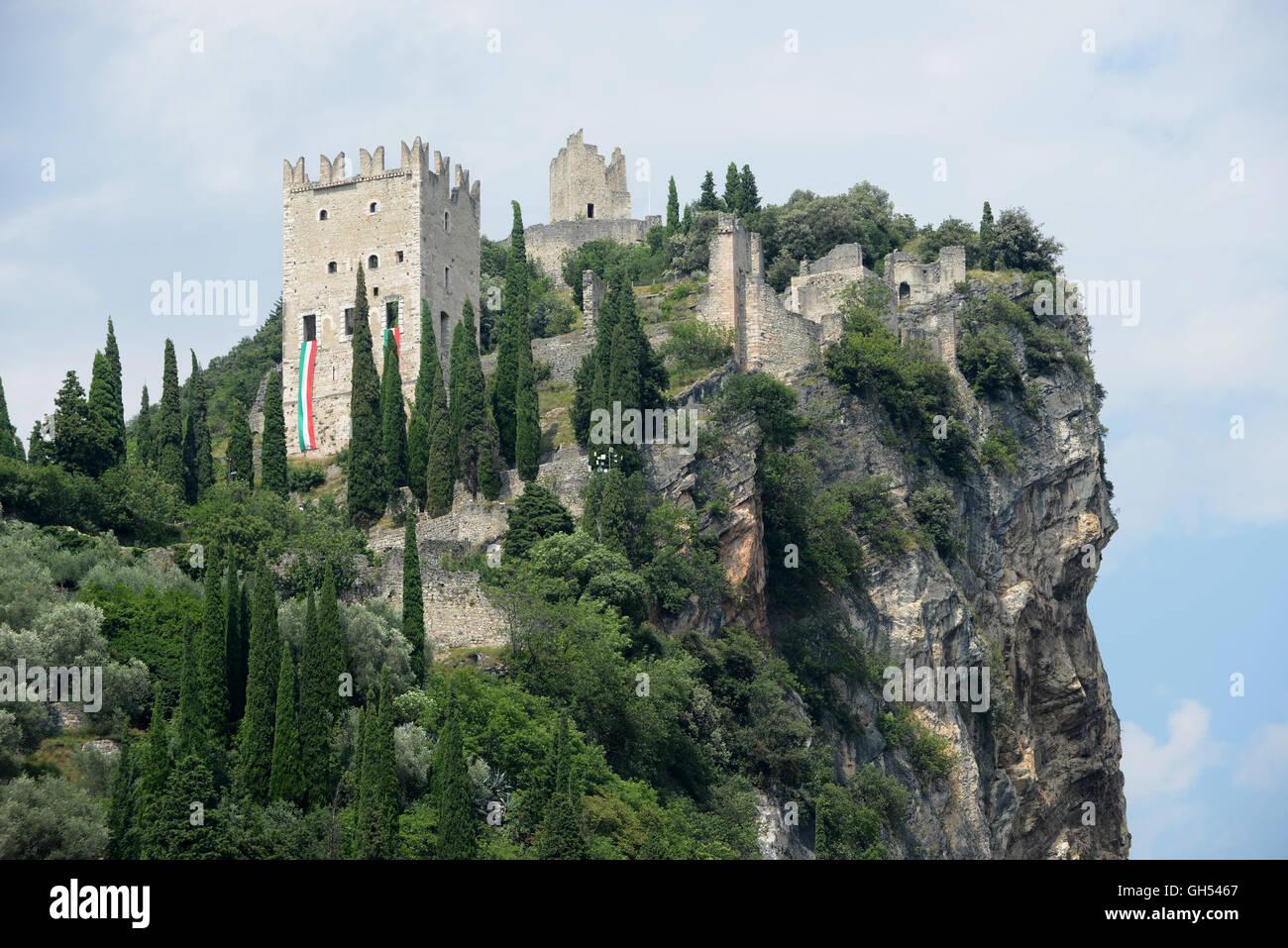 Castello di Arco - Ruined Arco Castle (Trentino, Italy) - Stock Image