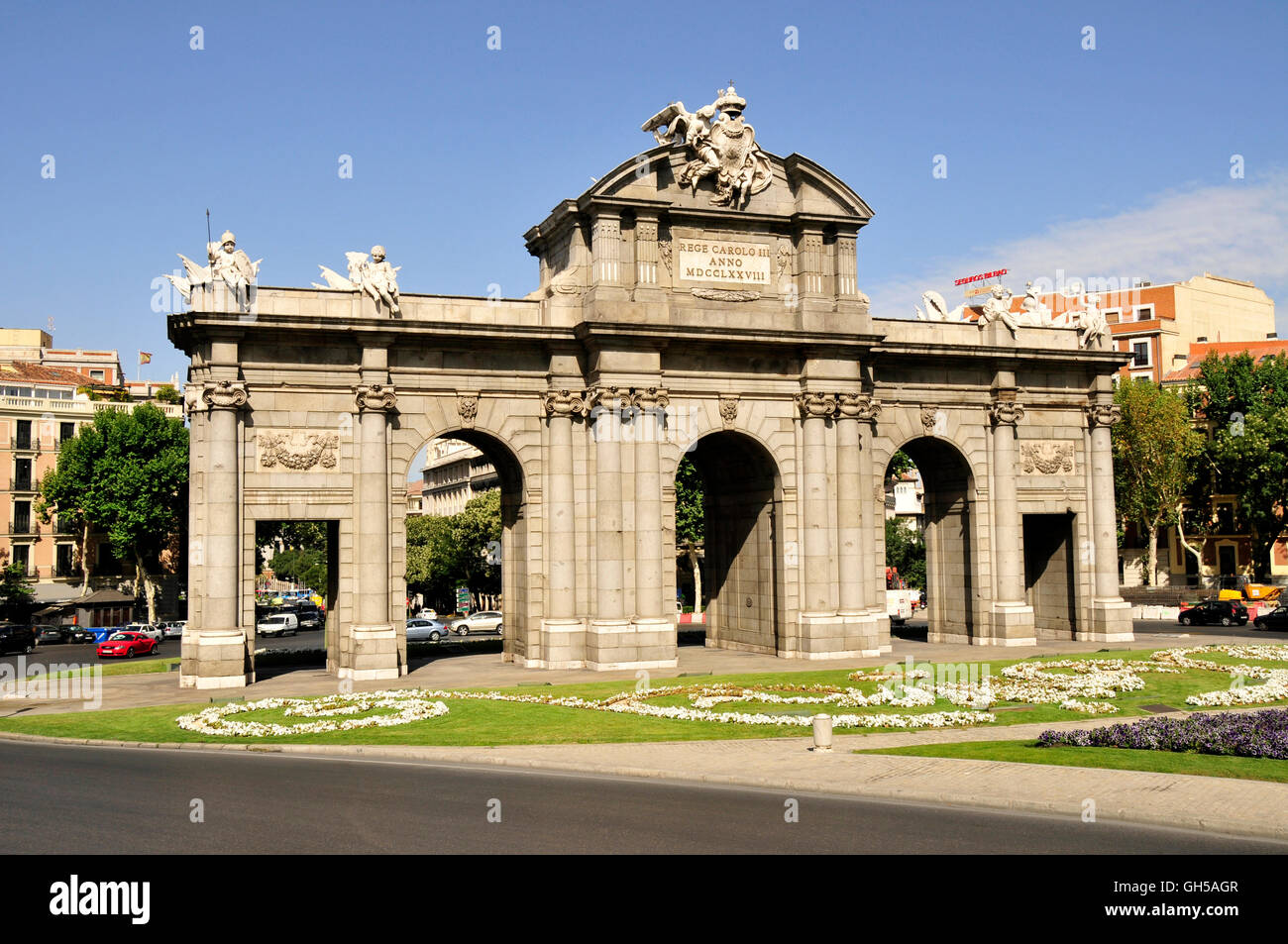 geography / travel, Spain, Puerta del Alcala, Madrid, Additional-Rights-Clearance-Info-Not-Available - Stock Image