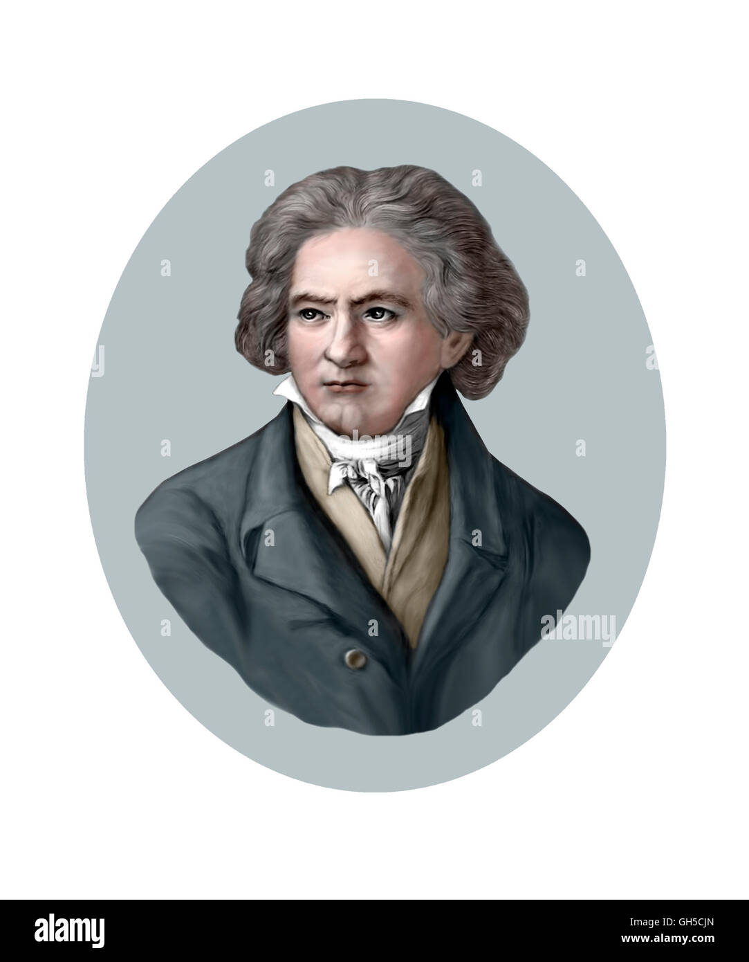 Ludwig van Beethoven, 1770-1827, Composer, Pianist Stock Photo