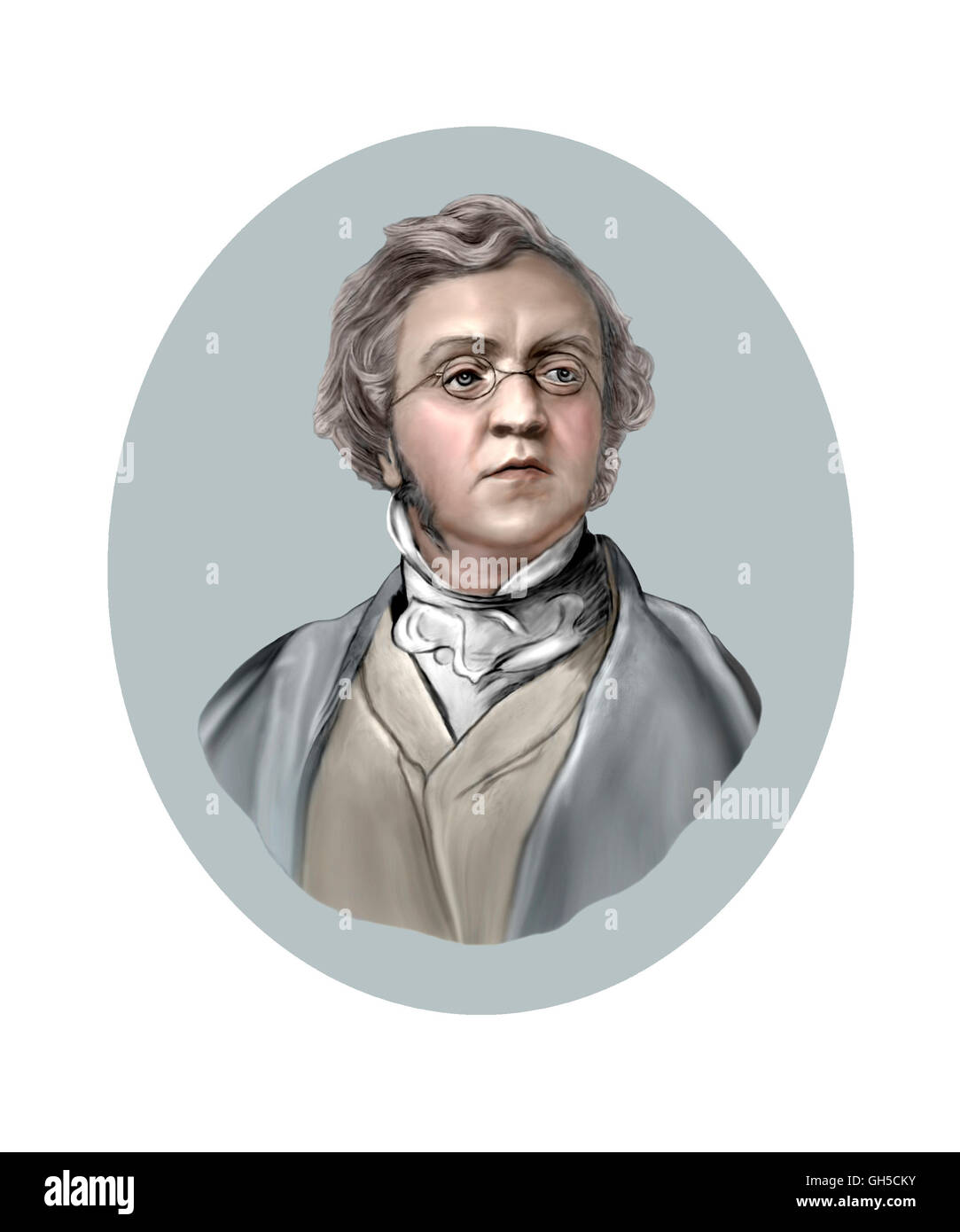 William Makepeace Thackeray, 1811-1863, Novelist Stock Photo