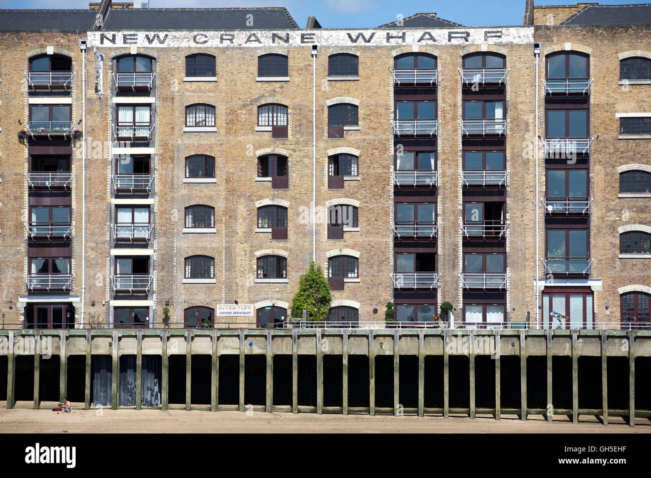New Crane Wharf, grade II listed building in Tower Hamlets, Greater London, England, UK - Stock Image