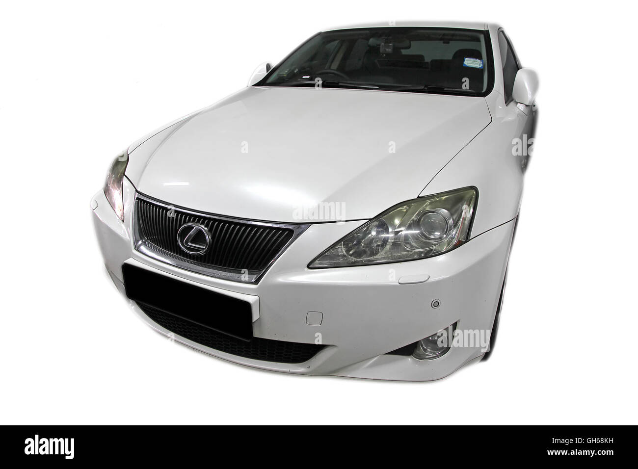 Lexus IS IS250 in White - Stock Image