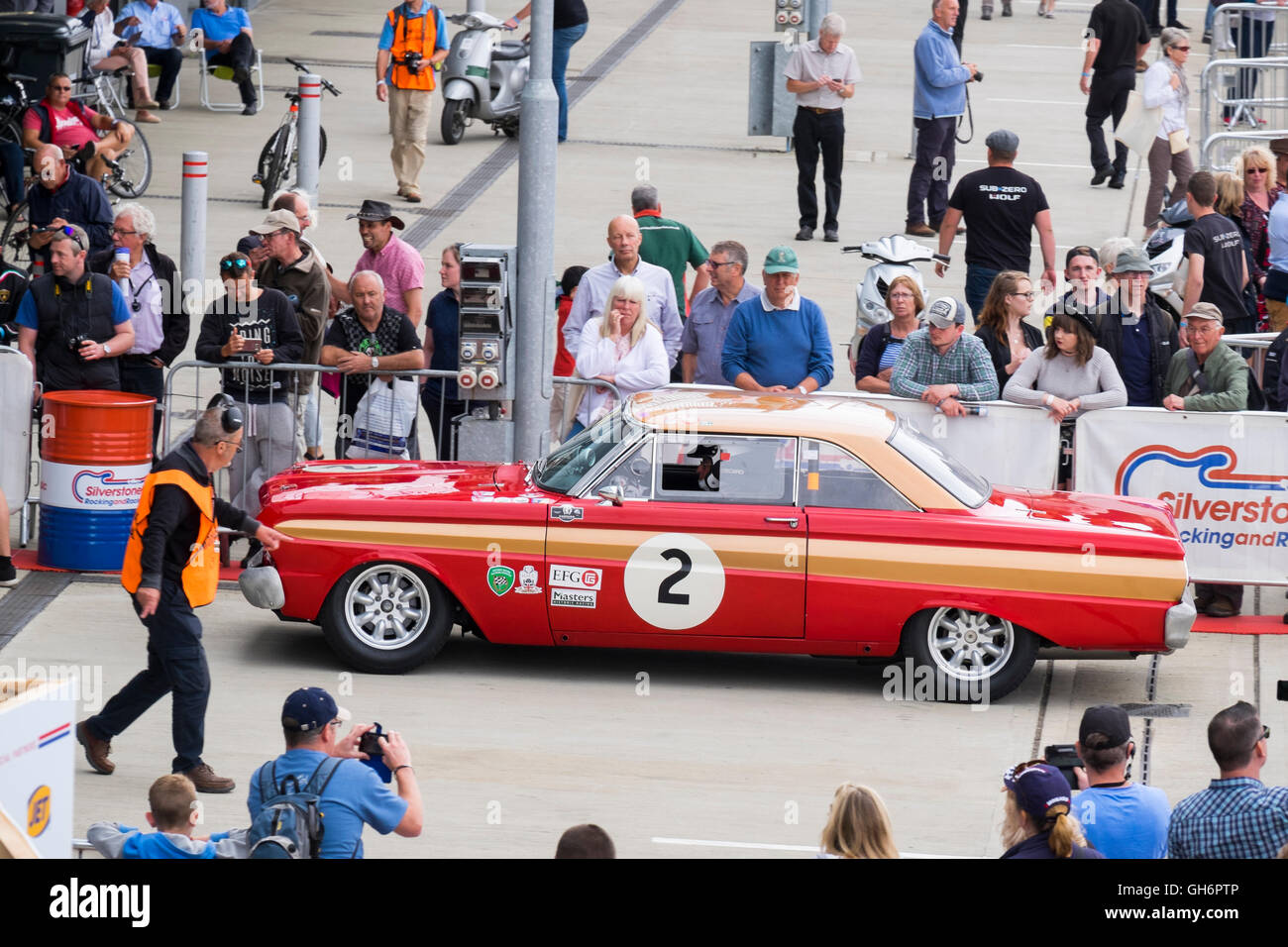 Leo Voyazides, Ford Falcon, Pre-66 Big Engined Touring Cars, 2016 Silverstone Classic event, UK - Stock Image