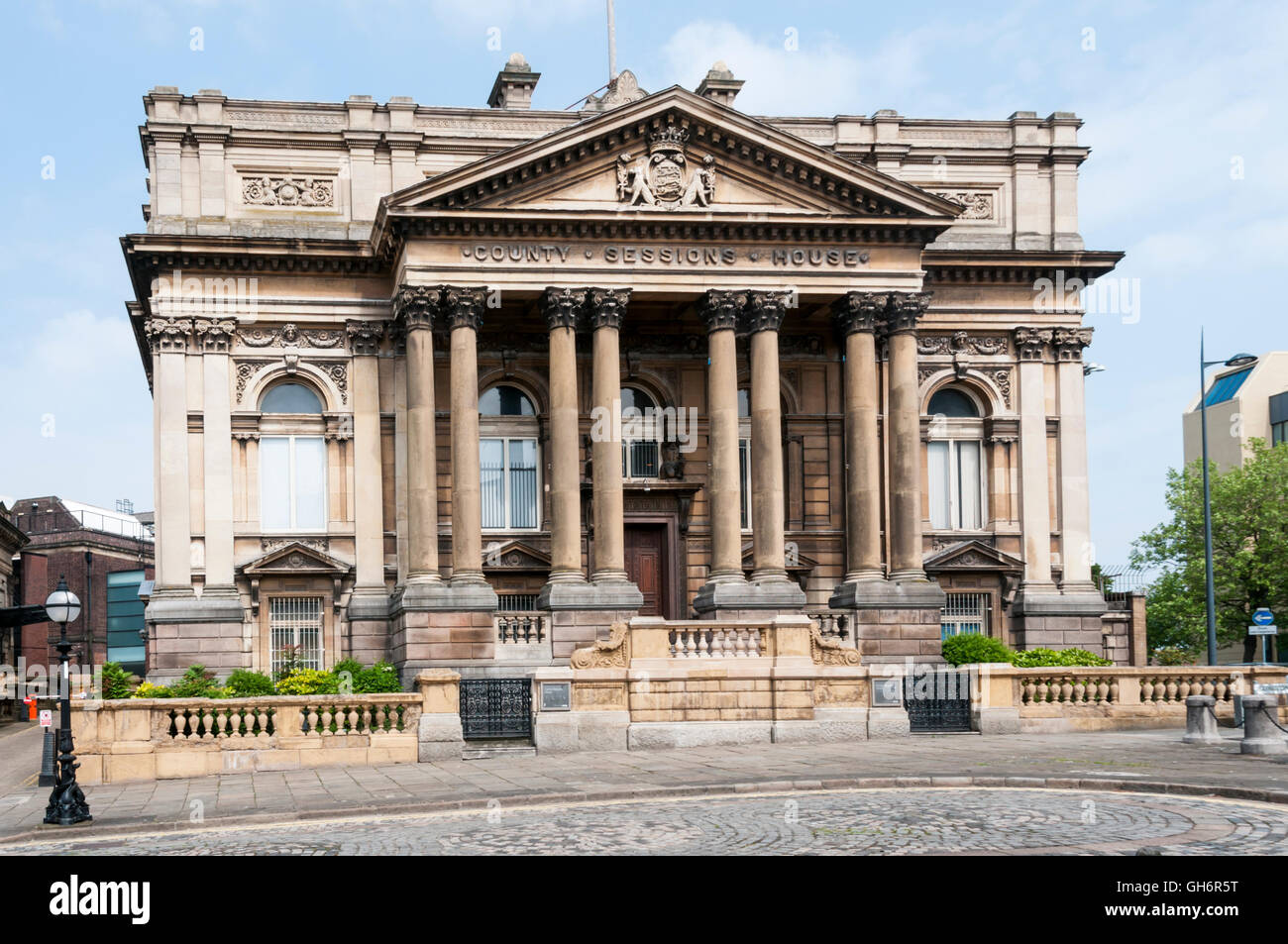 The former County Sessions House in William Brown Street, Liverpool. - Stock Image