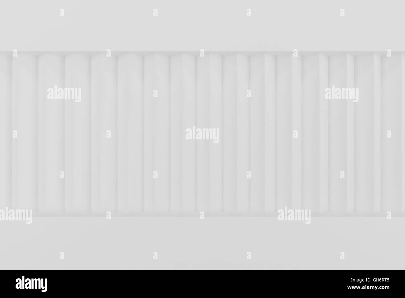 Metal container background 3d render - Stock Image