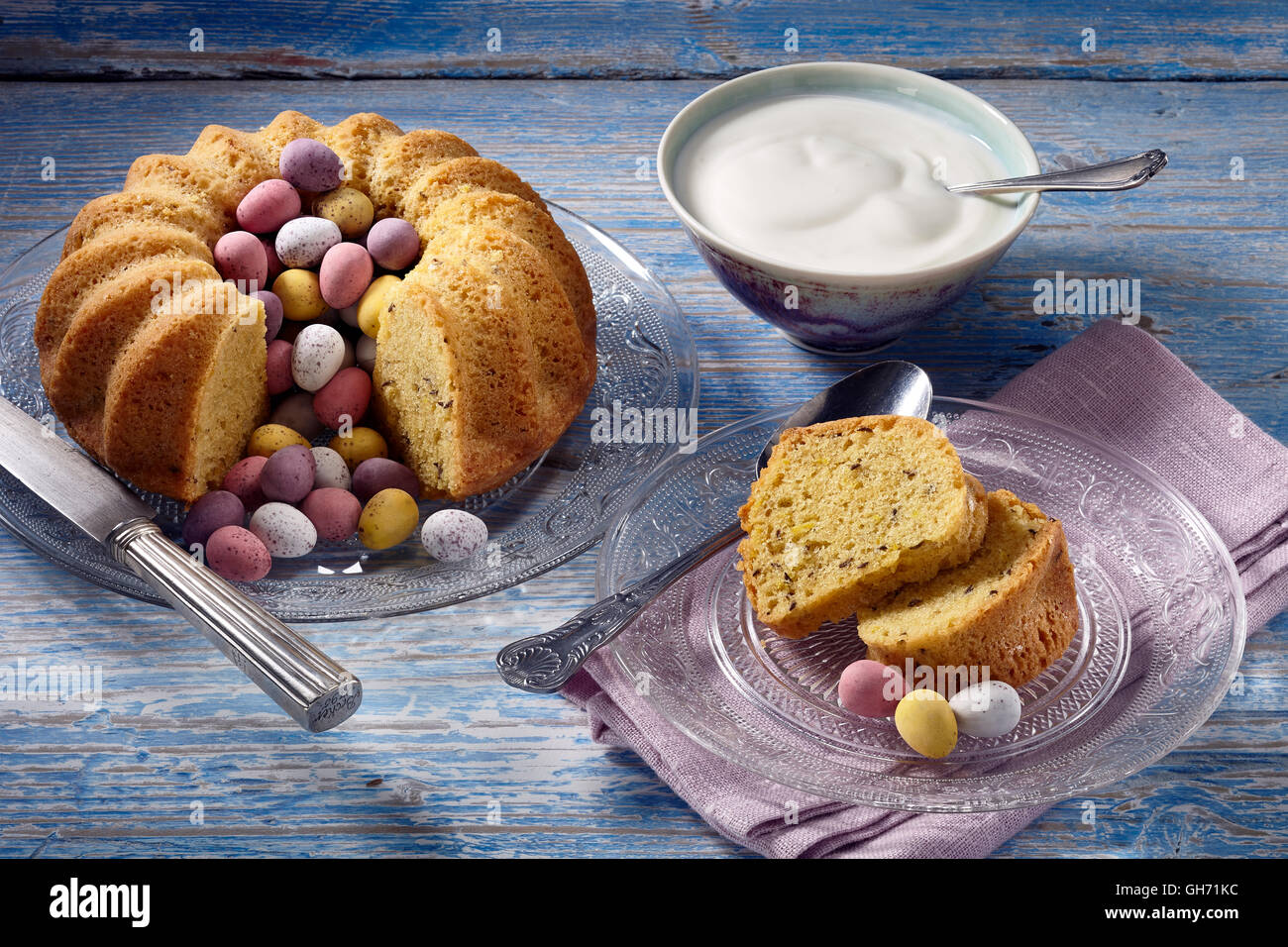 Easter saffron cake Stock Photo