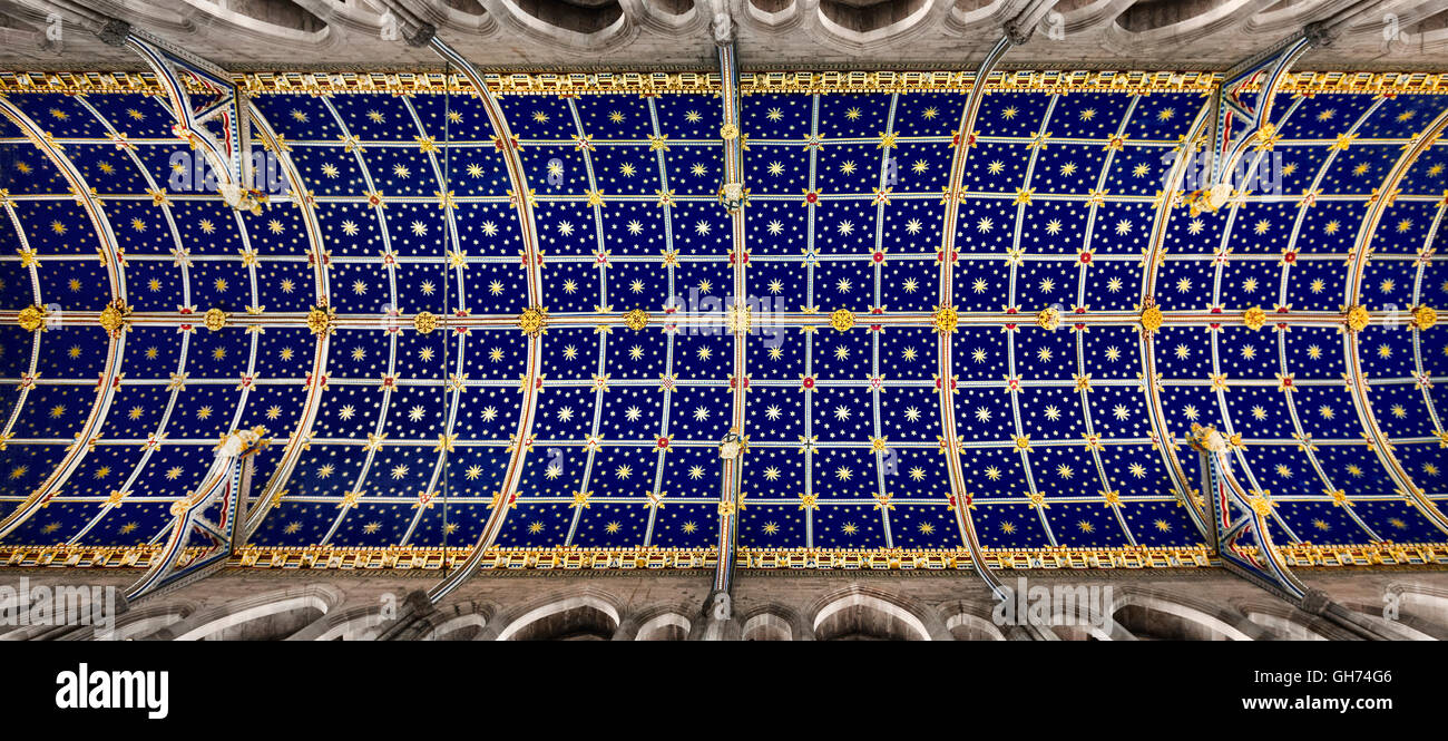 Carlisle cathedral's ceiling. - Stock Image