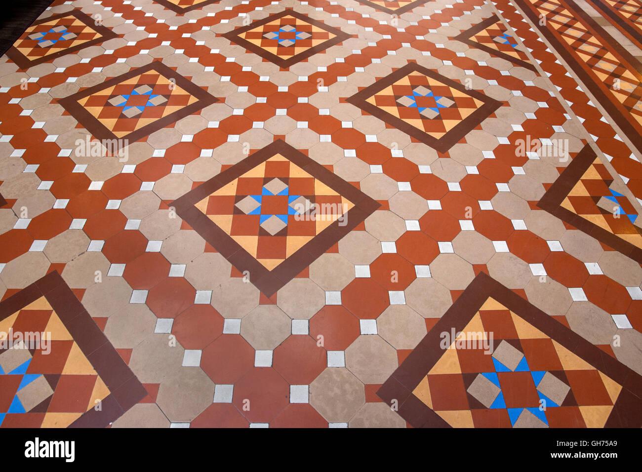Antique Terracotta Floor Tiles Stock Photos & Antique Terracotta