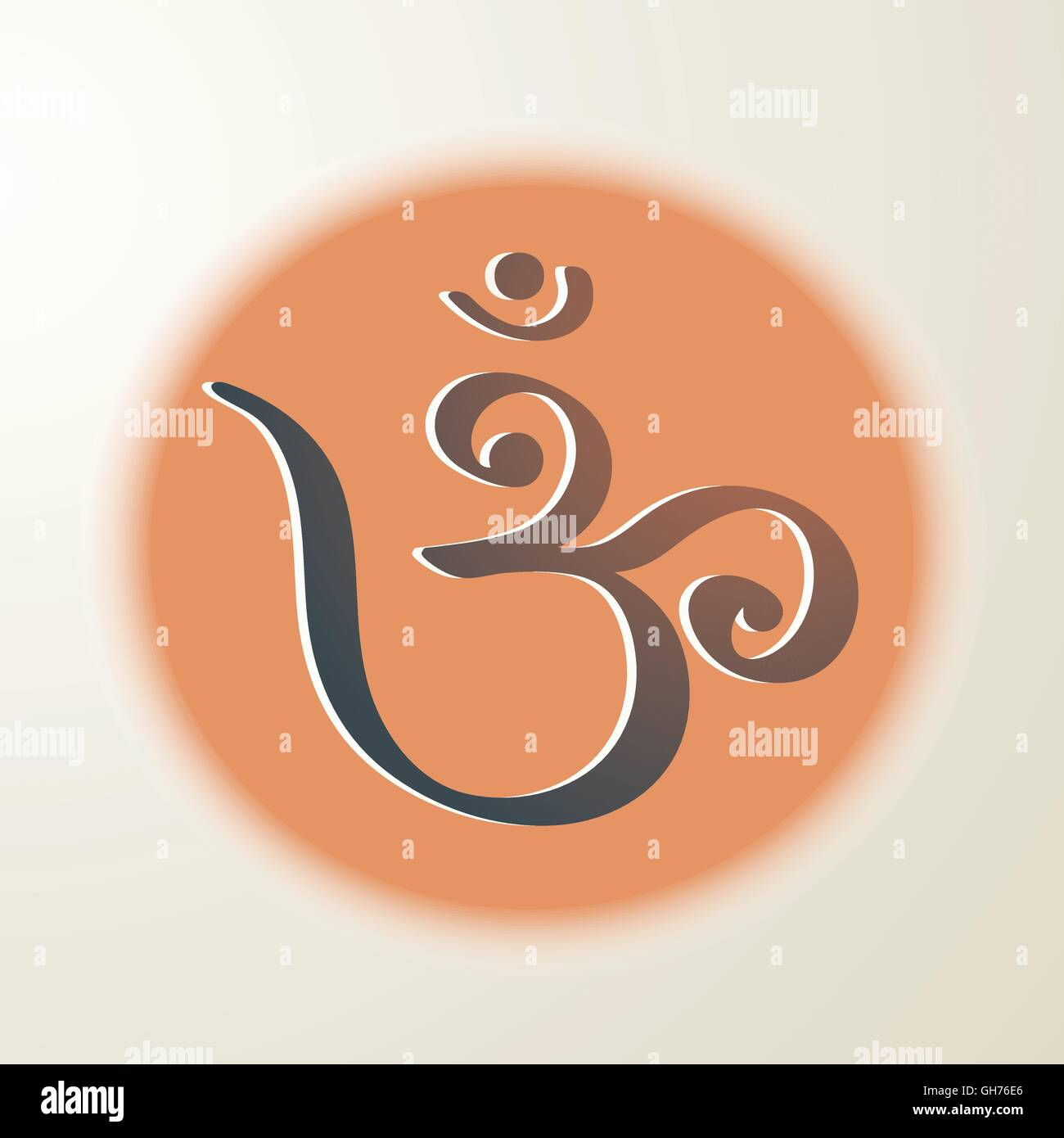 Om Hindu Symbol Stock Vector Art Illustration Vector Image