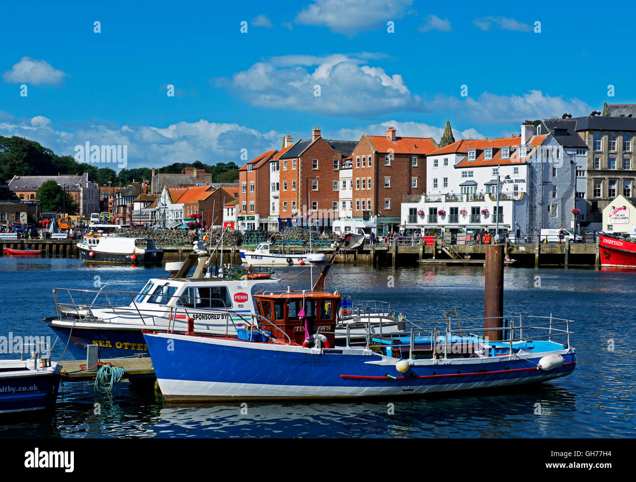 The harbour, Whitby, North Yorkshire, England UK - Stock Image