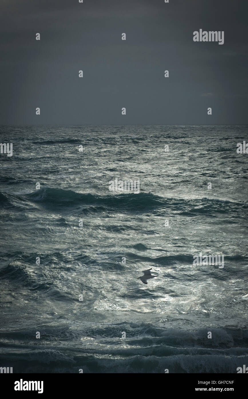 Stormy weather gathering over the Atlantic. - Stock Image