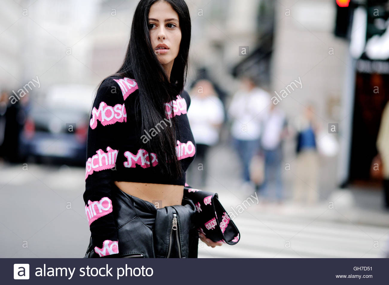 Gilda Ambrosio Milan, during Milan Fashion Week. - Stock Image