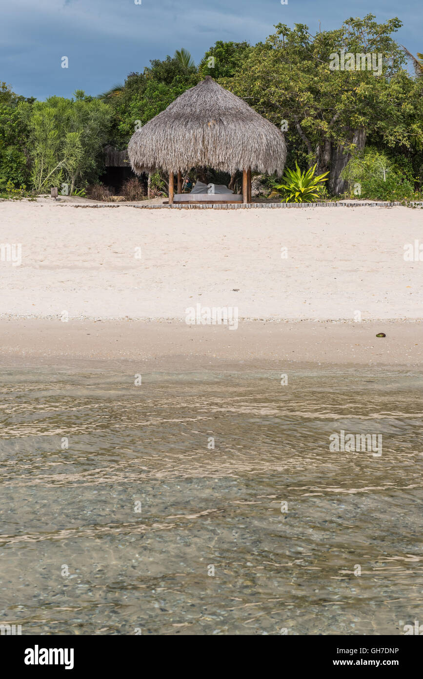 Beach Sala at Azura Benguerra Island Retreat Mozambique - Stock Image