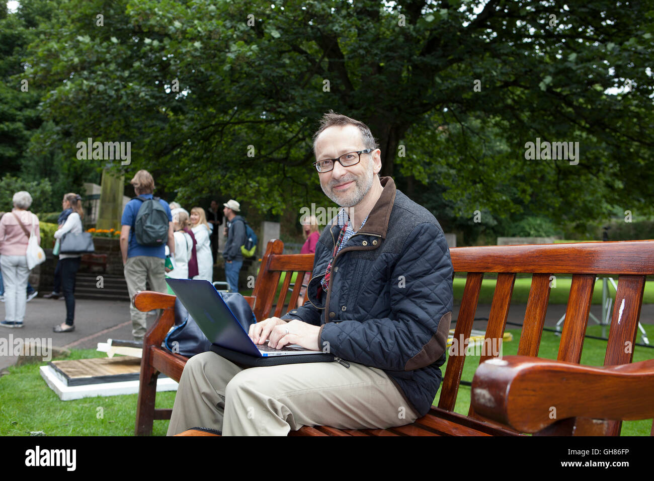 Edinburgh, Scotland, UK. 9th August, 2016. Photo call from Teacup Travels, shooting new television series of CBeebies - Stock Image