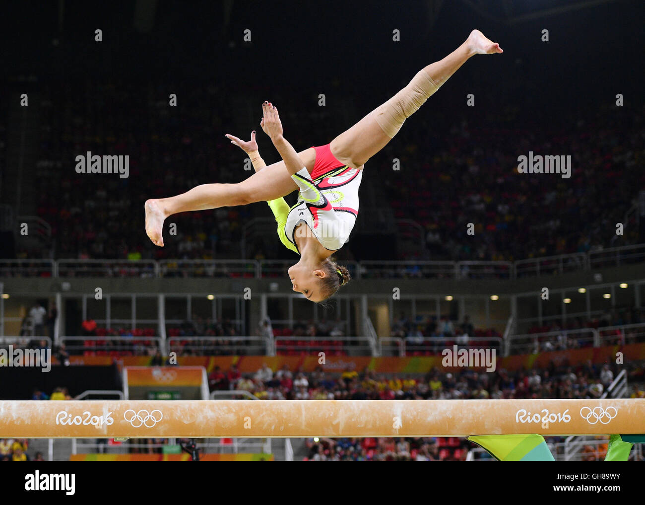 Rio de Janeiro, Brazil. 9th August, 2016. Tabea Alt of Germany performs on the Beam during the Artistic Gymnastics - Stock Image