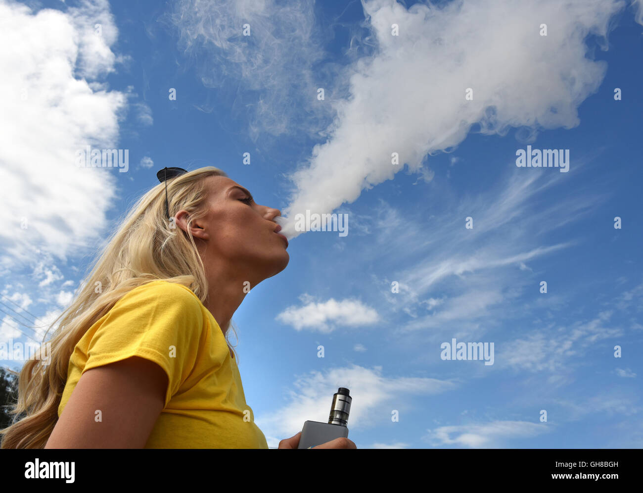 Vapefest the festival for Vaping enthusiasts at Shrewsbury Uk August 6th 2016 - Stock Image