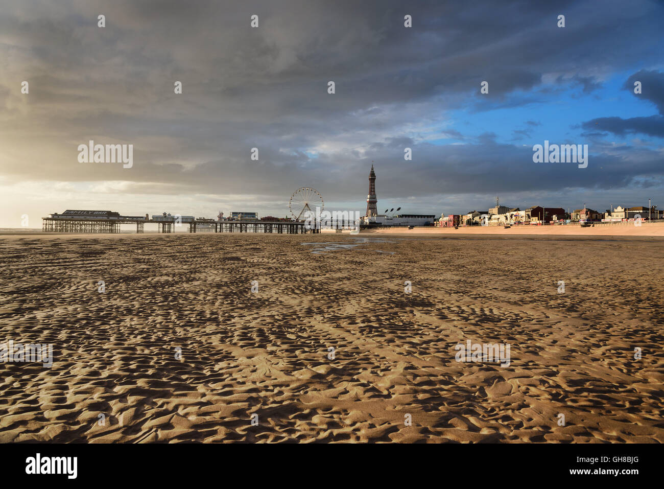 Blackpool Pleasure Beach commonly referred to as Pleasure Beach Resort or simply Pleasure Beach in England. - Stock Image