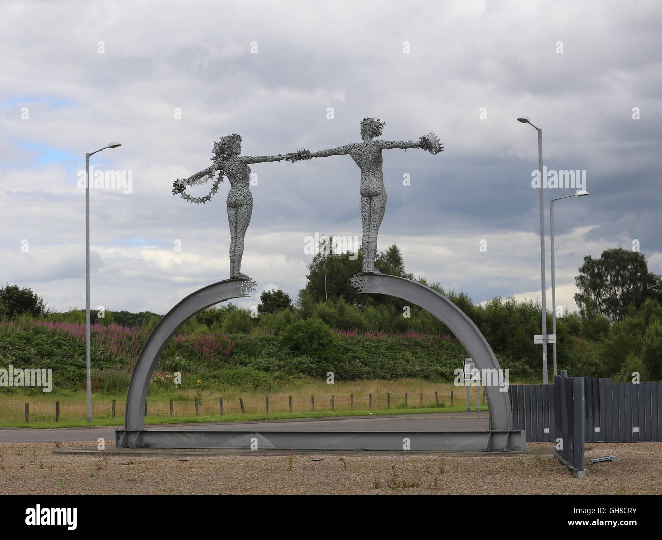 This Journey's End sculpture by Andy Scott Alloa Clackmannanshire Scotland  July 2016 - Stock Image