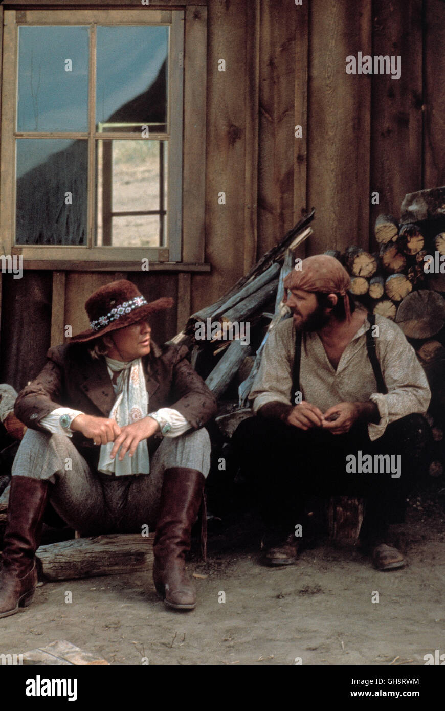 DUELL AM MISSOURI / The Missouri Breaks USA 1976 / Arthur Penn MARLON BRANDO (Robert E. Lee Clayton), JACK NICHOLSON - Stock Image