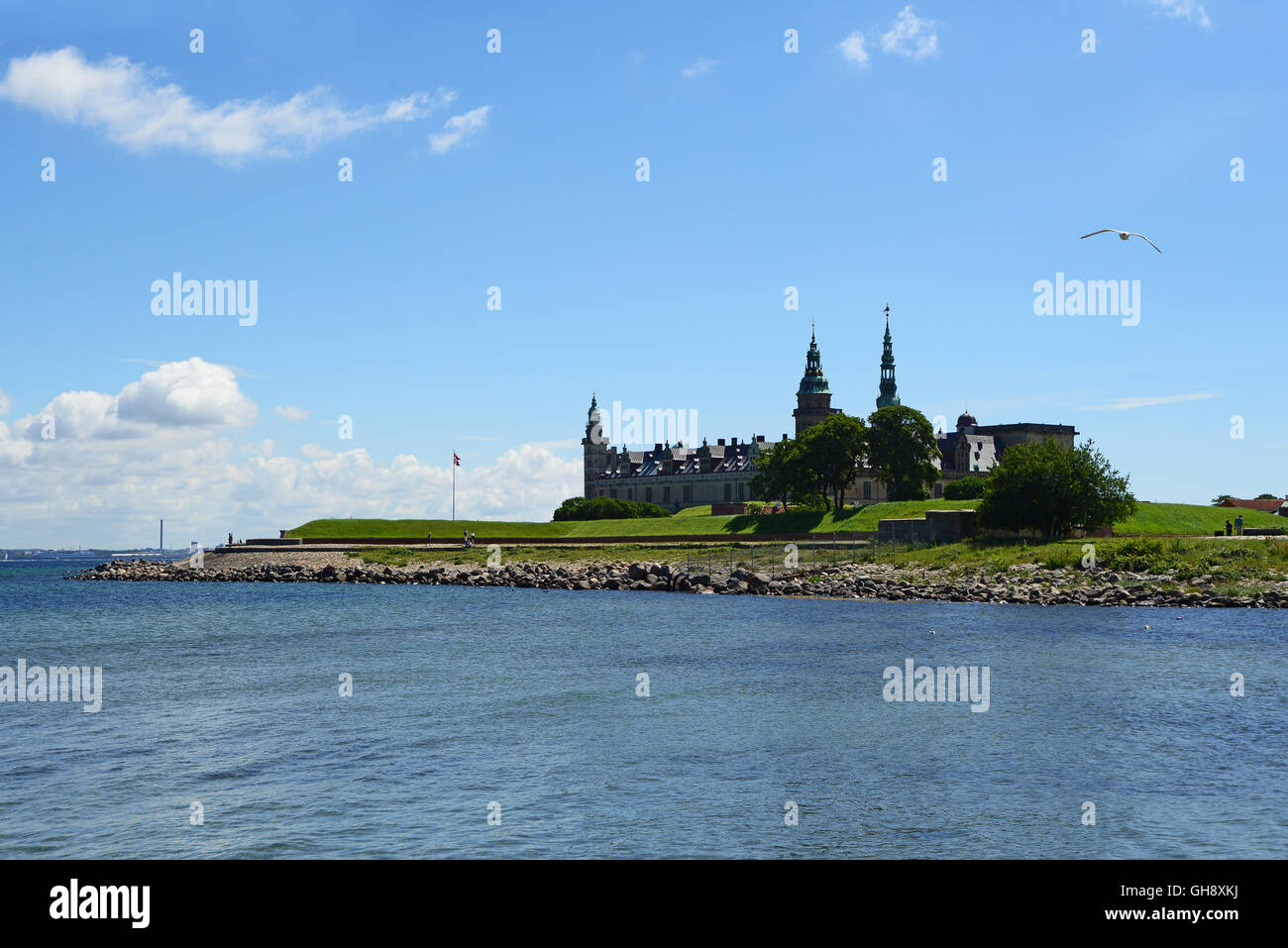 Kronborg Castle of Hamlet in Denmark - Stock Image
