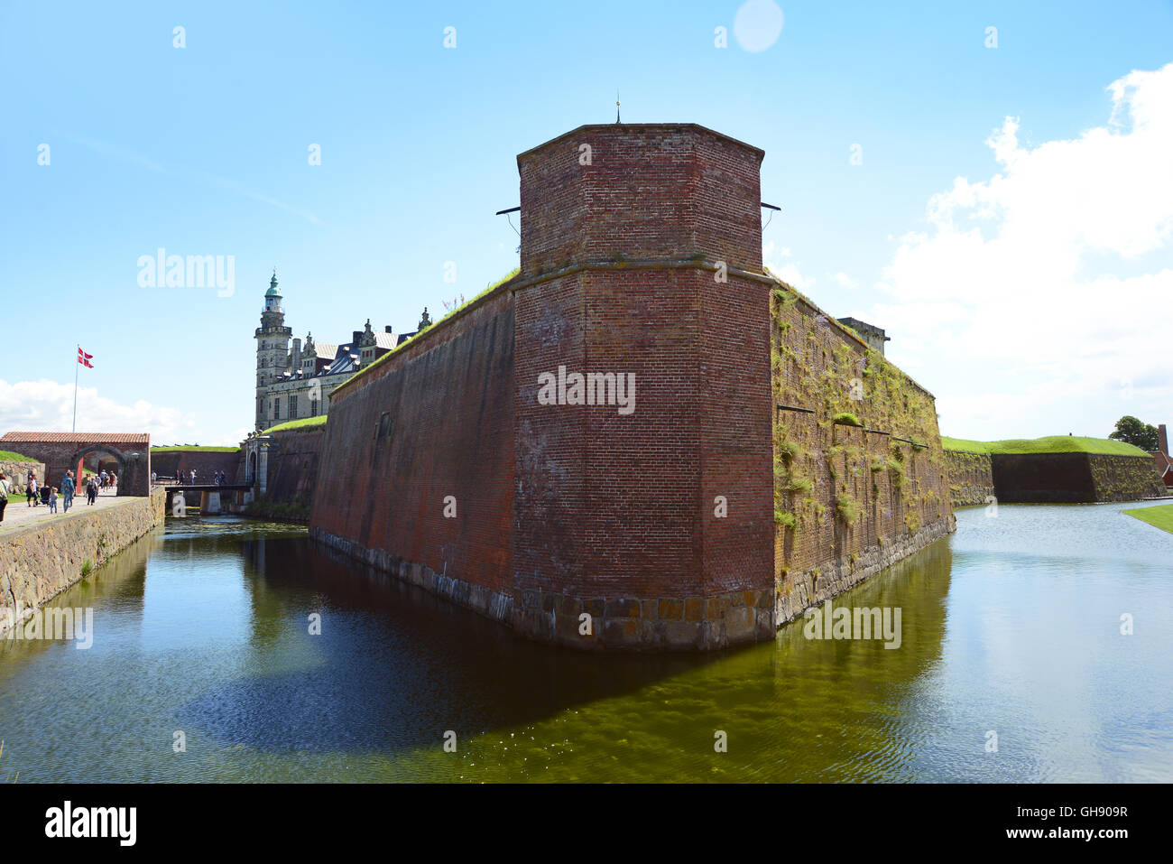 Helsingor, Denmark - July 19, 2016: Kronborg Castle of Hamlet in Denmark - Stock Image