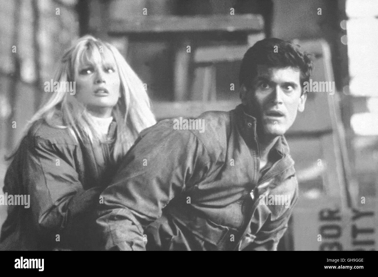 LAURENE LANDON (Theresa Mallory), TOM ATKINS (Frank McCrae) Film, Fernsehen, Horrorfilm, 80er Regie: William Lustig - Stock Image
