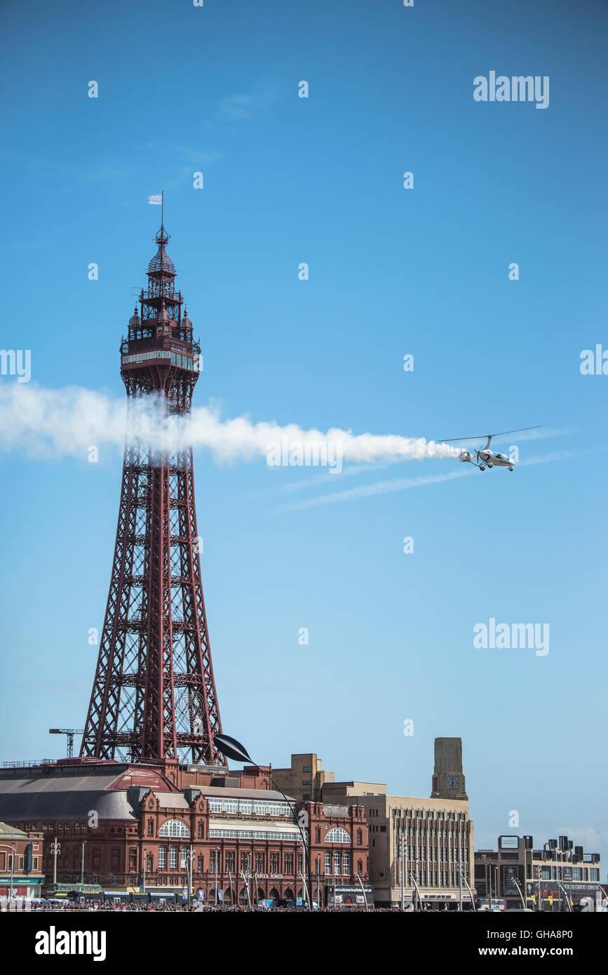 Autogyro at 2016 Blackpool airshow, UK. - Stock Image