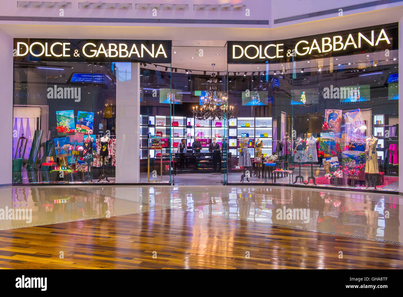 Dolce & Gabbana store in Las Vegas strip - Stock Image