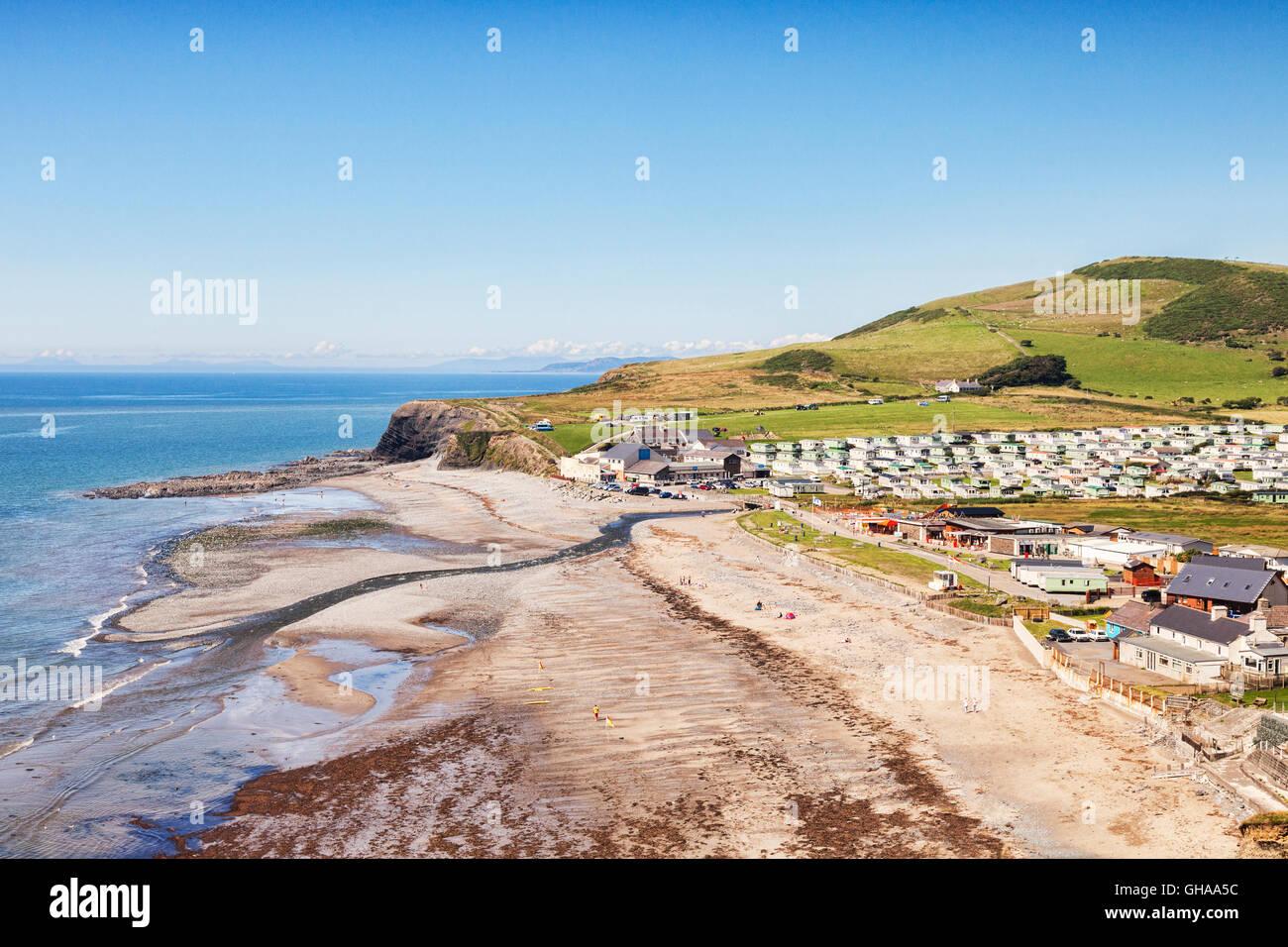Clarach Bay, Aberystwyth, Cardiganshire, Wales, UK - Stock Image