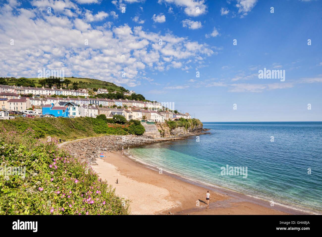 North beach at New Quay, Ceredigion, Wales, UK - Stock Image