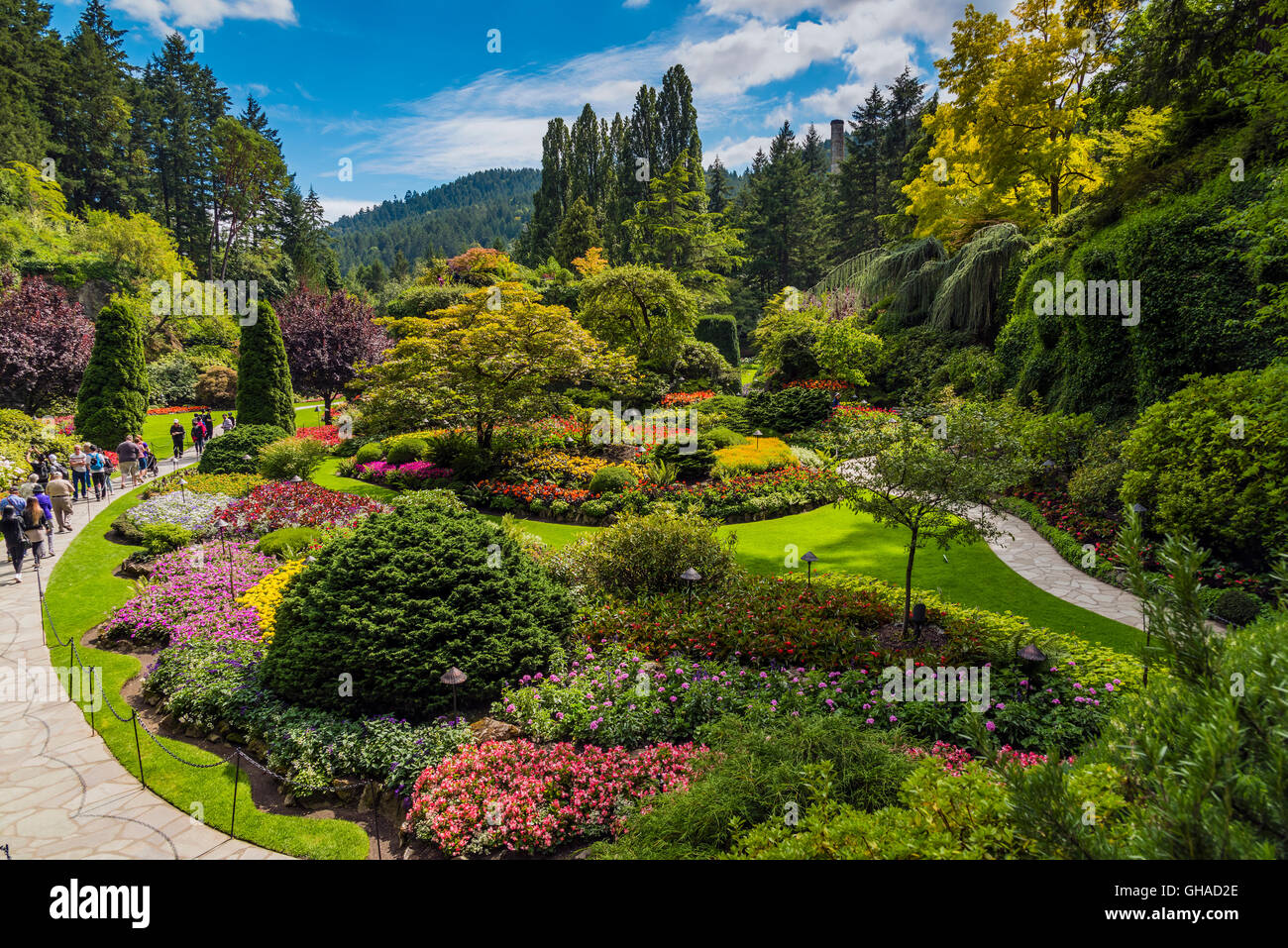 Butchart gardens victoria british columbia canada stock photo butchart gardens victoria british columbia canada thecheapjerseys Image collections