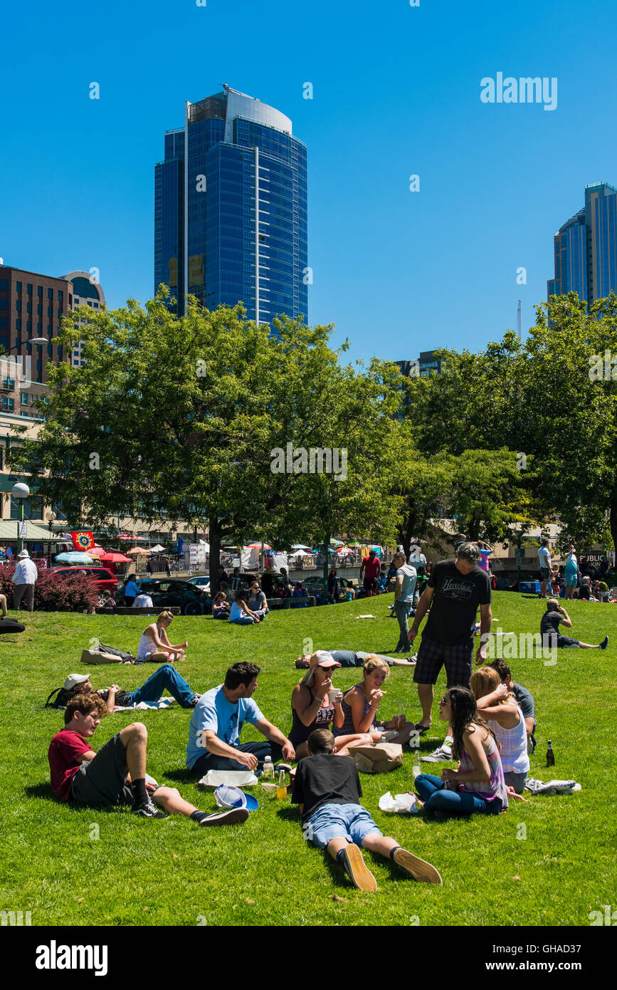 Victor Steinbrueck Park, Seattle, Washington, USA - Stock Image