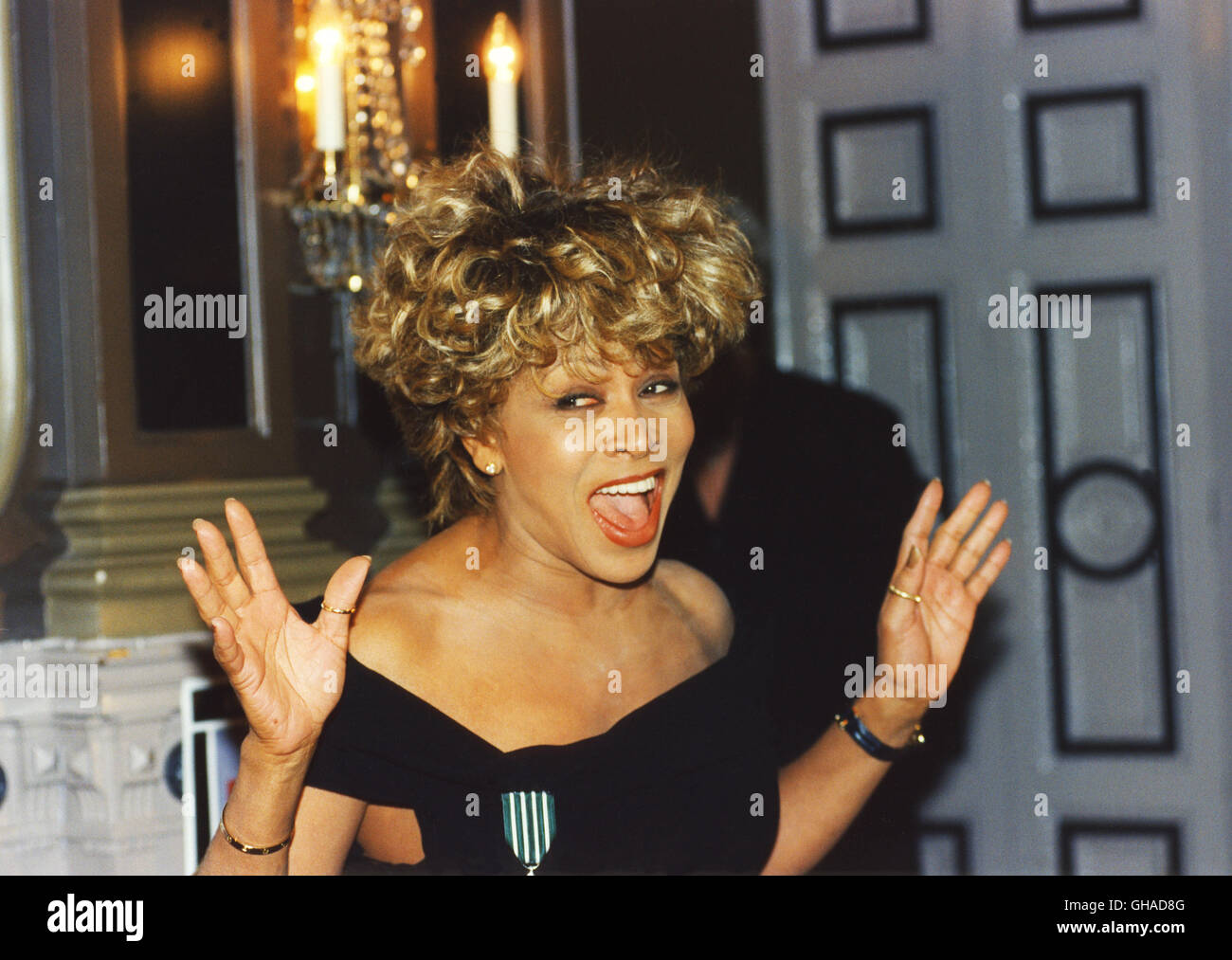 TINA TURNER artist in Stockholm at press conference Stock Photo