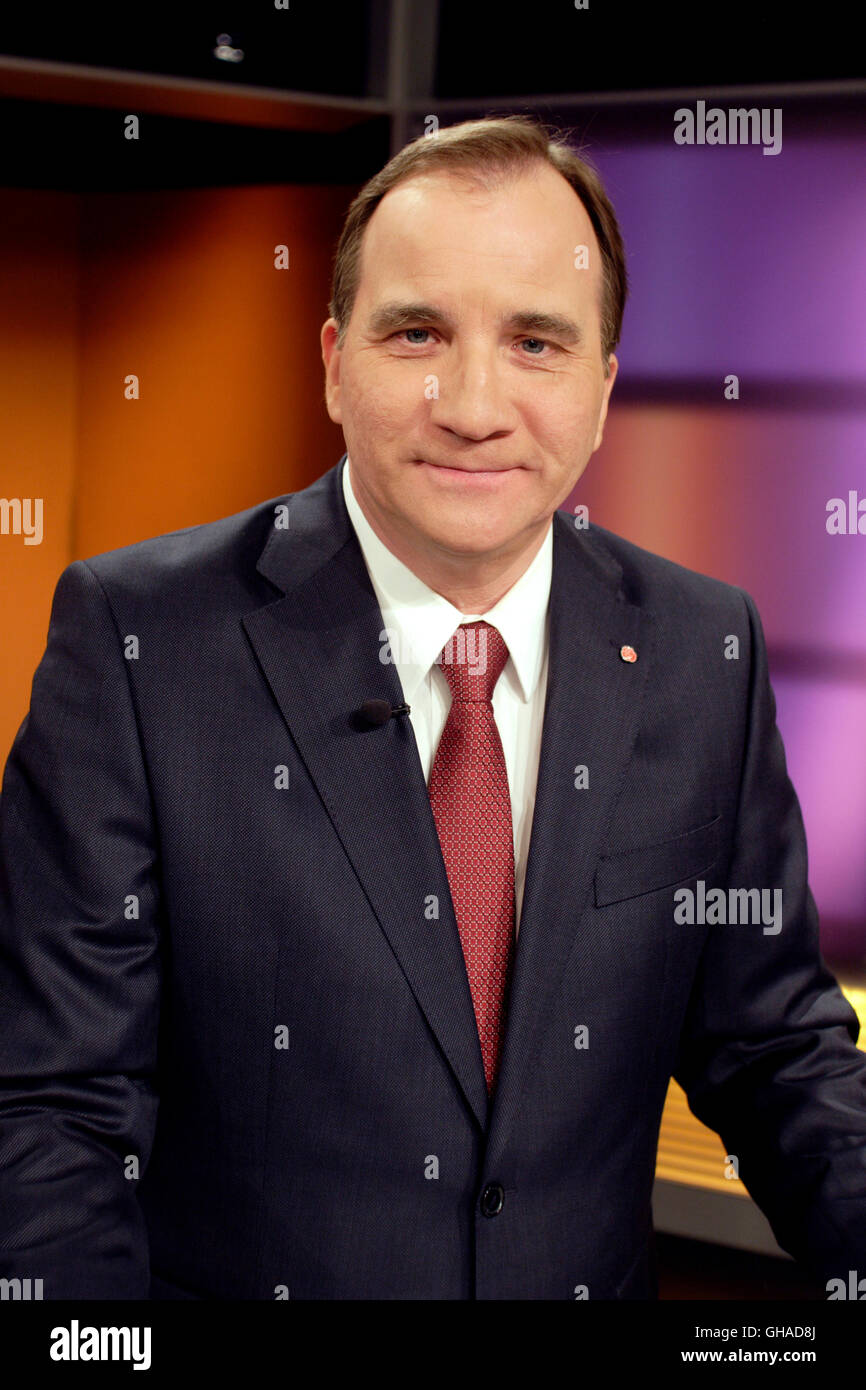 Stefan Löfven Prime minister and party leader for Swedish Social Democrats since 2014 - Stock Image