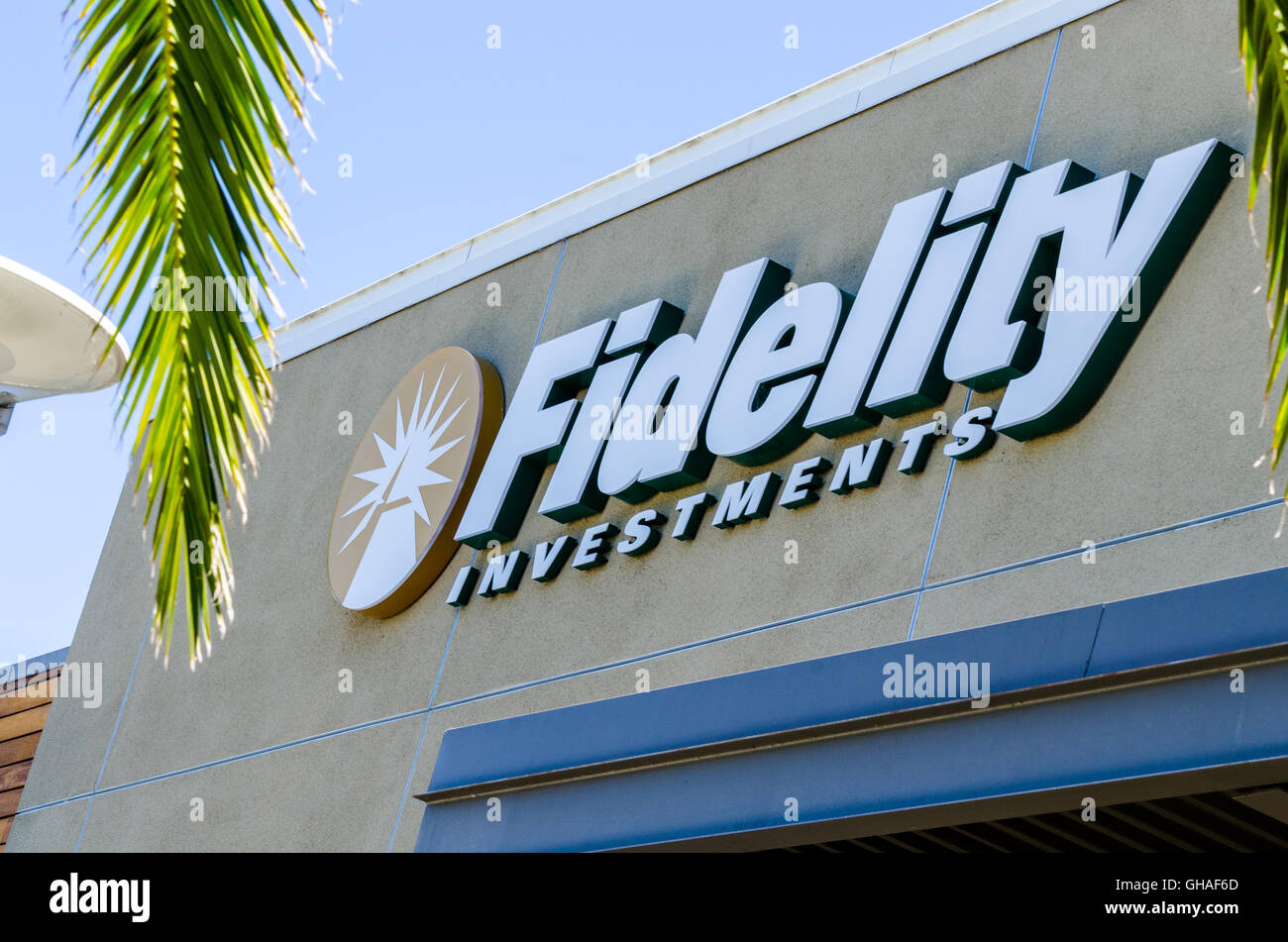 A Fidelity Investments storefront in San Jose California - Stock Image