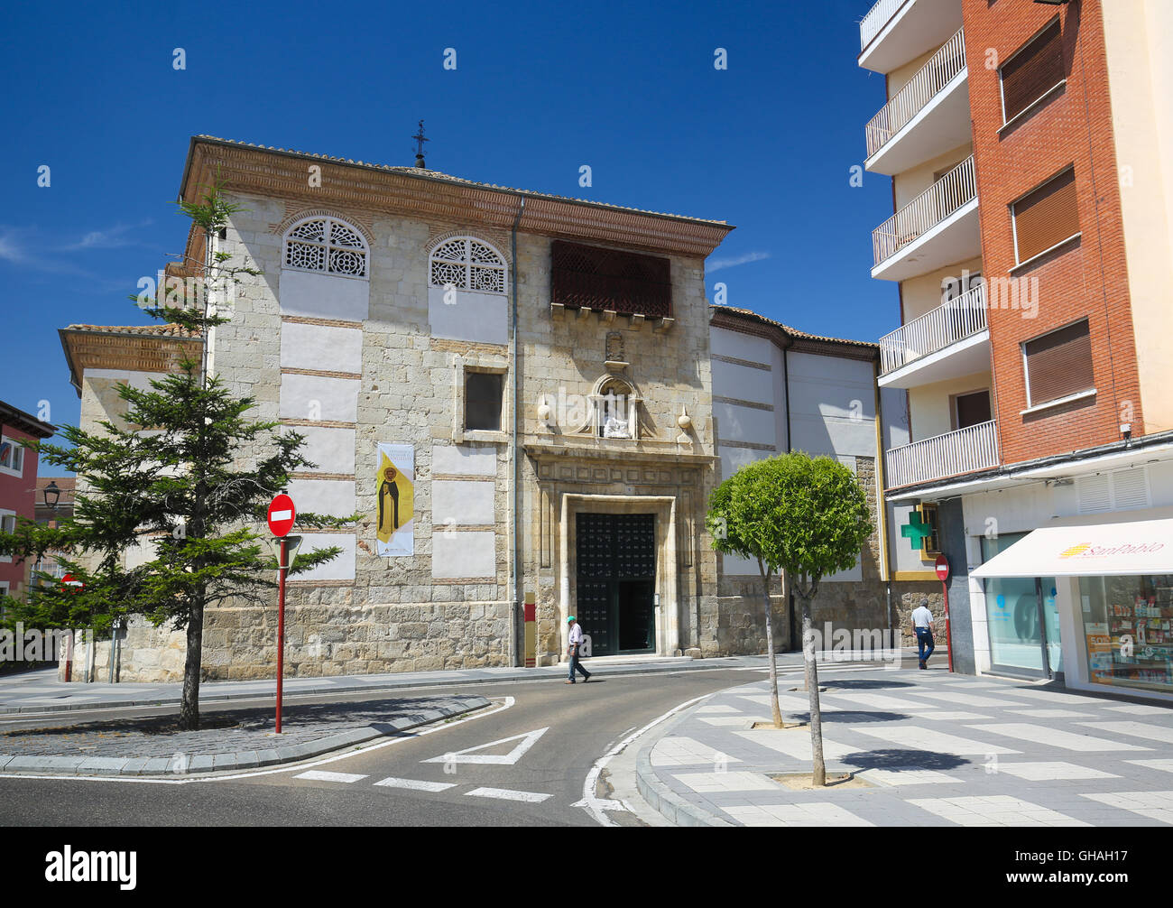 PALENCIA, SPAIN - JULY 10, 2016: Church in Palencia, a city in Castile and Leon, northwest Spain - Stock Image
