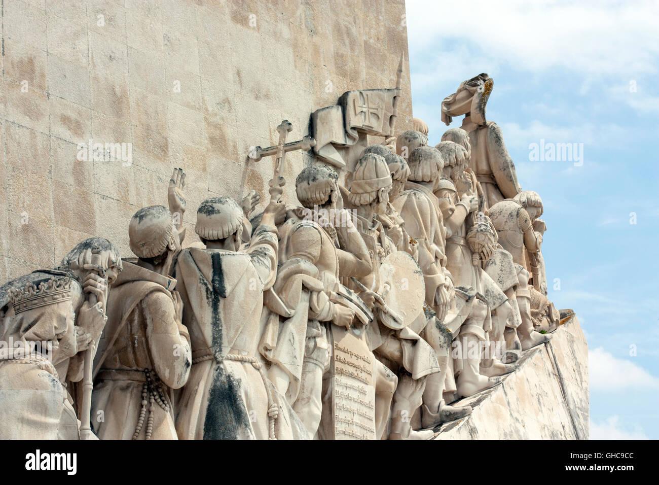 Padrão dos Descobrimentos (Monument to the Discoveries) in Lisbon Portugal - Stock Image