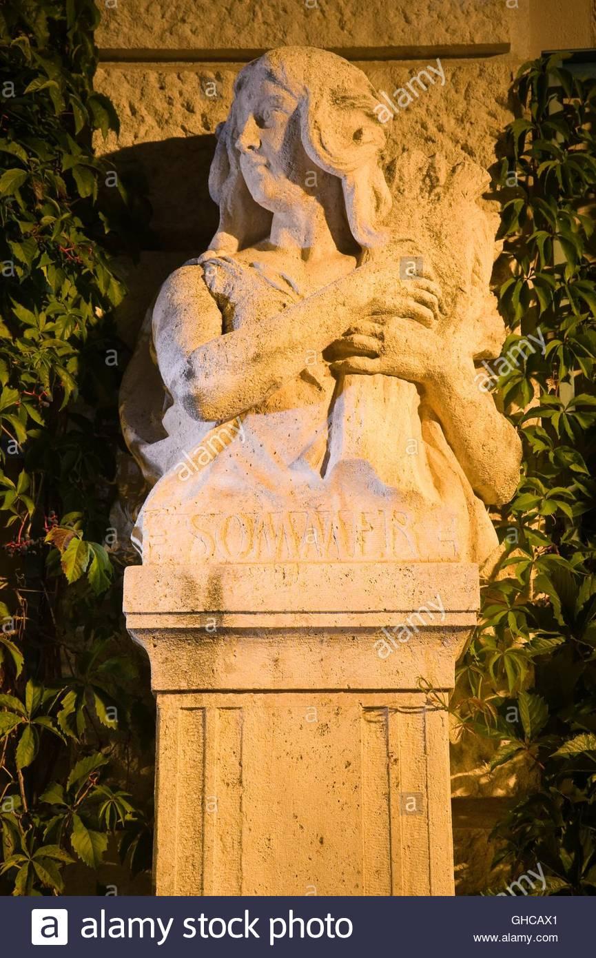 Wien, Stadtpark, Allegorische Figur Sommer - Stock Image