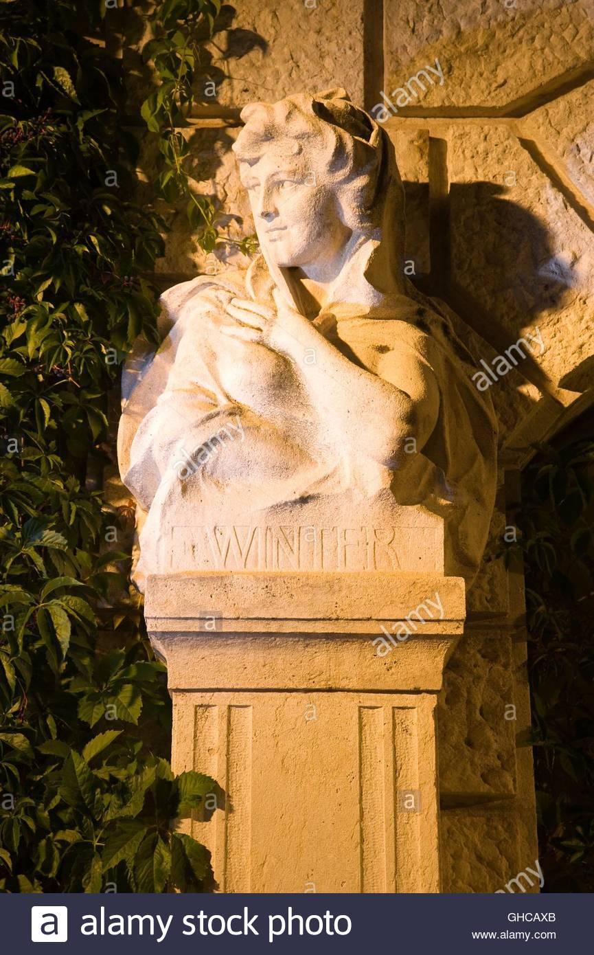 Wien, Stadtpark, Allegorische Figur Winter - Stock Image