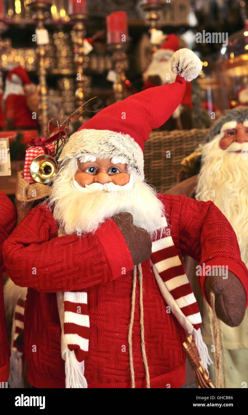 A Santa Claus doll - Stock Image