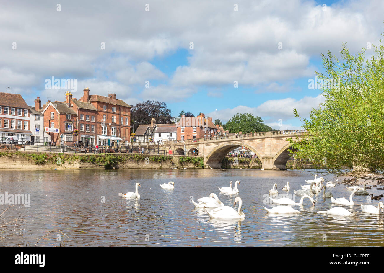 The riverside town of Bewdley, Worcestershire, England, UK - Stock Image