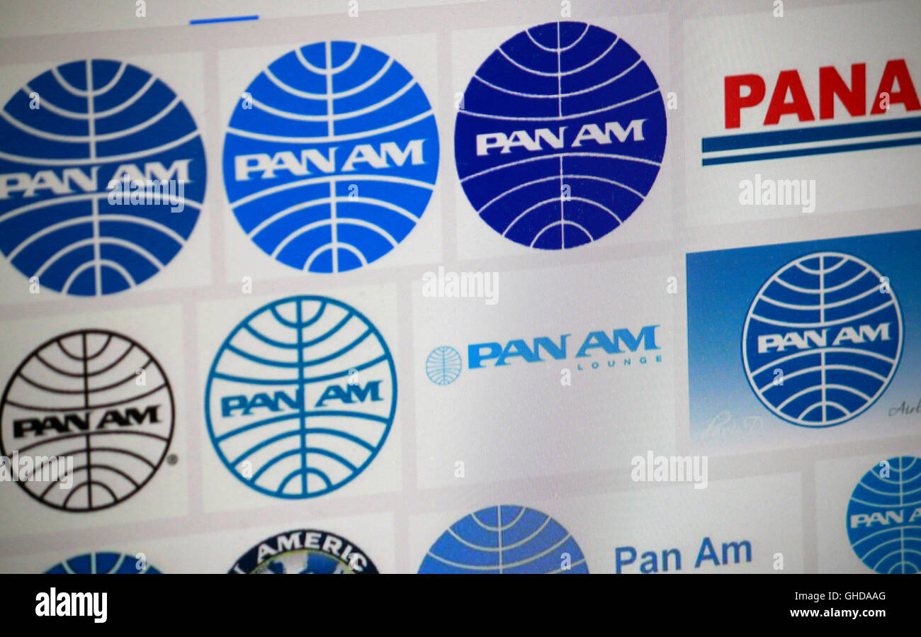 Loge der Marke 'Pan Am', Berlin. - Stock Image