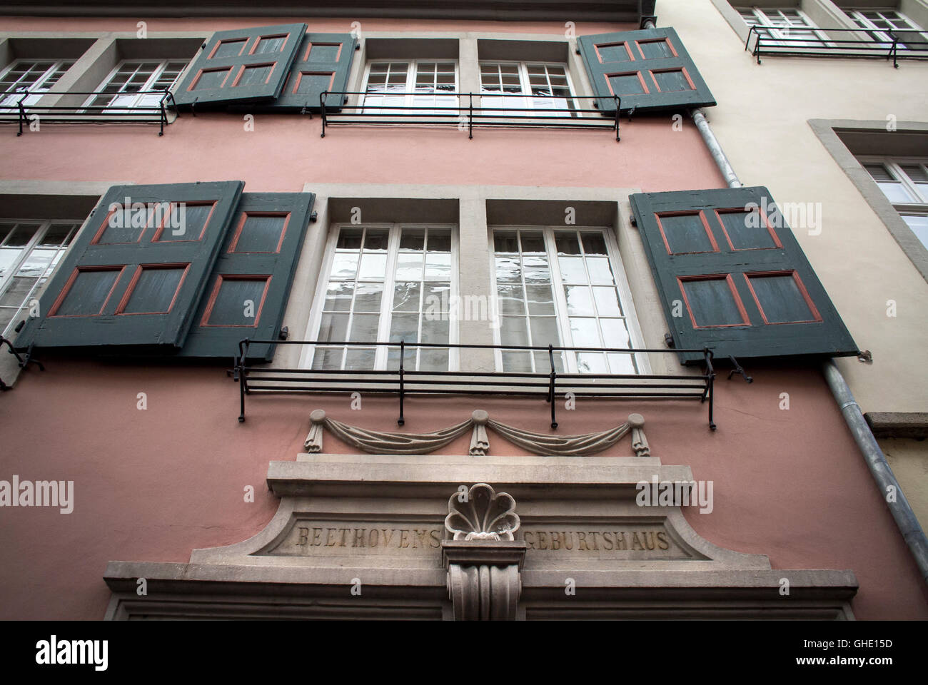 The Beethoven House  in Bonn, Germany - Stock Image